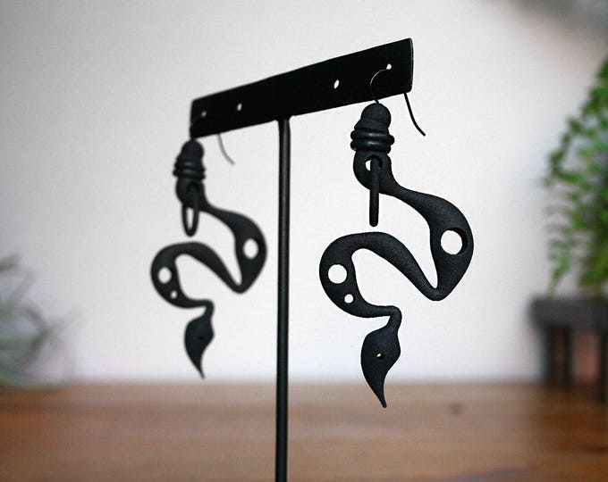 """Venom"" Earrings in Black"