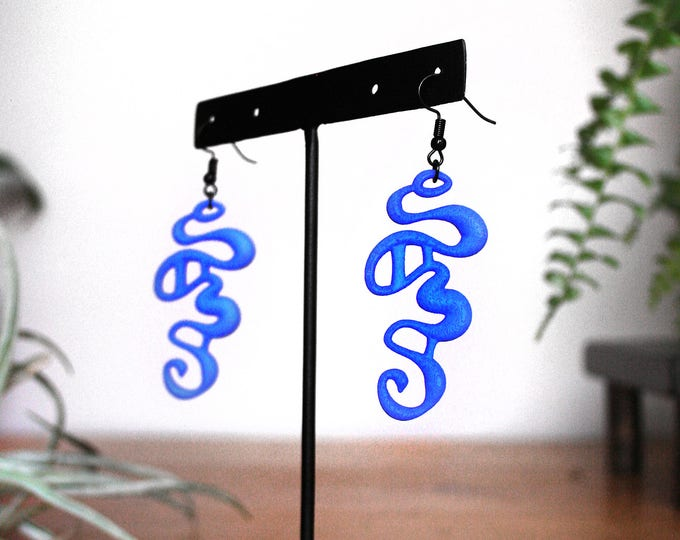"""Rivulet"" Earrings in Blue"