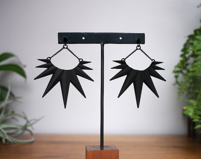 """Conspire"" Earrings in Black"