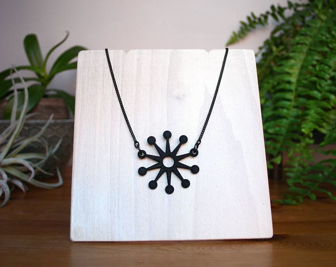 """""""Astro"""" Necklace in Black"""