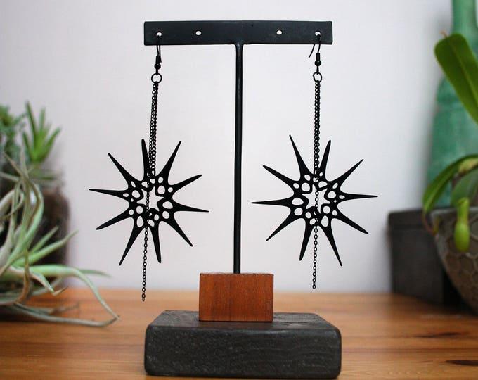 """""""Urchin"""" Earrings in Black"""