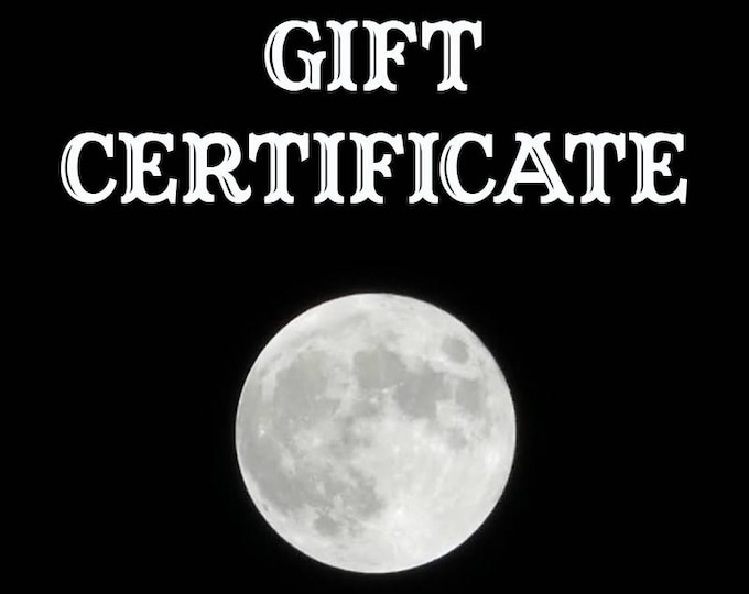 Hypnovamp Gift Certificate - Jewelry Gift Voucher - Holiday Gifts for Her - Jewelry Gift Card - Witchy Gifts - Goth Gifts - Unusual Gifts