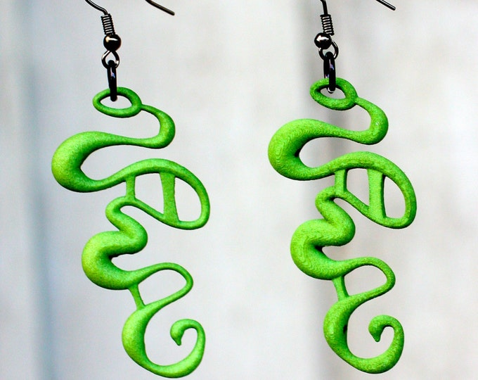 "Green ""Rivulet"" Earrings"