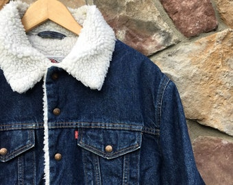 Levis Sherpa Denim Jacket Made In USA 40 Medium
