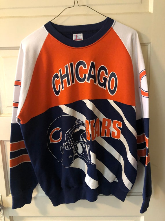 80s Chicago Bears All Over Print Sweatshirt Sweate
