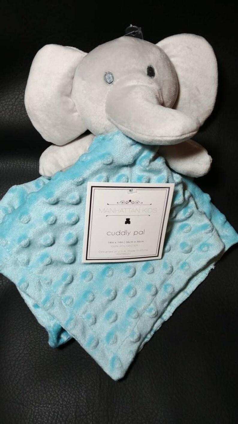 Blue Elephant Baby Lovey Security Blanket Other Nursery Bedding