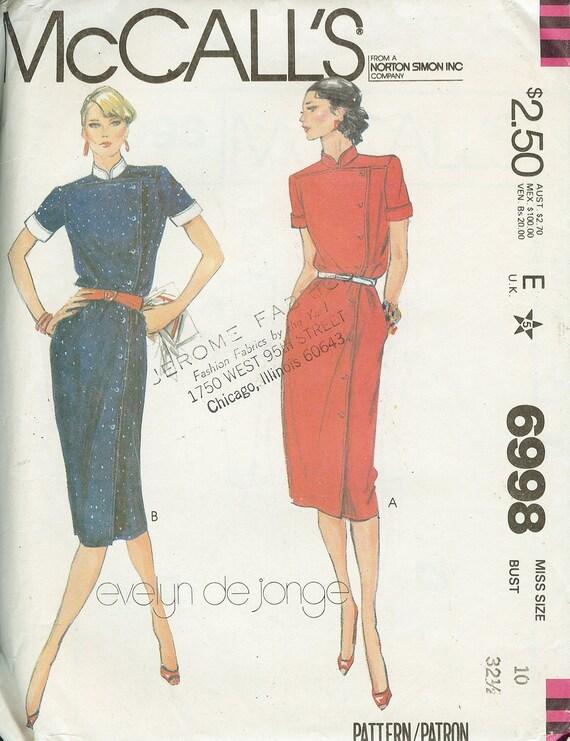 6998 Vestido de McCall con patrón de costura de cuello | Etsy