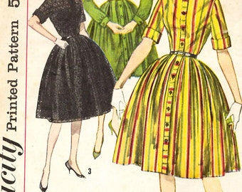 Simplicity 3562 Junior Misses One Piece Dress Sewing Pattern