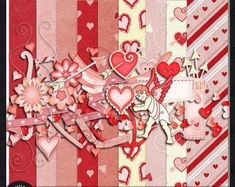 "Digital Scrapbook Kit, ""Be Mine"" Valentine"