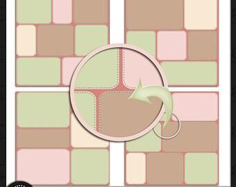 Digital Scrapbooking, Stitch It Up Template Pack 5