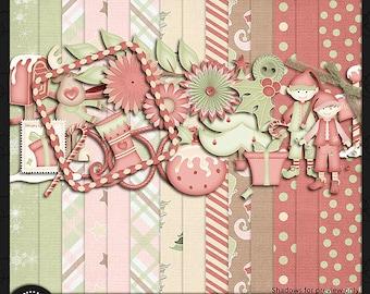 "Digital Scrapbook Kit, ""25 Days 'Till Christmas"""