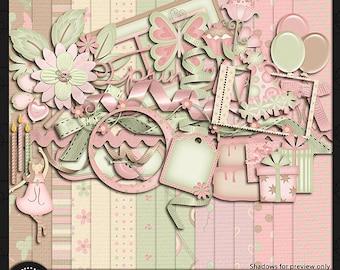"Digital Scrapbook Kit, ""Birthday Girl"""