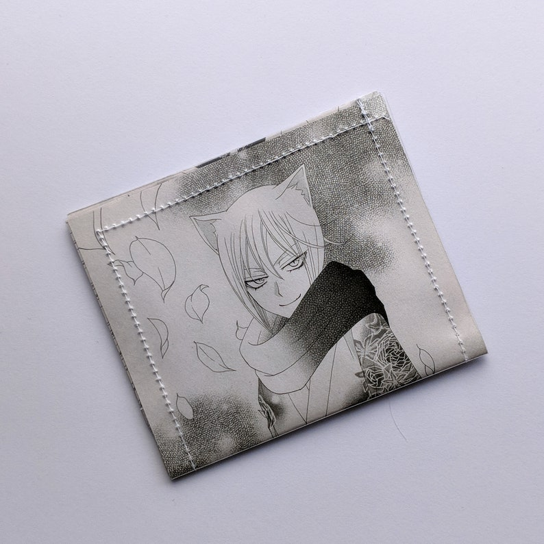 kamisama kiss - manga Comic Book Upcycled Wallet Black and White