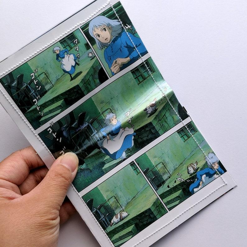 Studio Ghibli Sophie Howls Moving Castle pocket Comic Book Upcycled Vinyl  Card Holder Wallet
