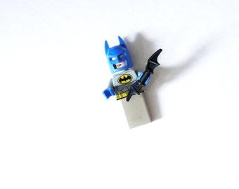 Batman in Blue  with removable Batarang Lego USB 8.0 or 16 GB Thumb Drive