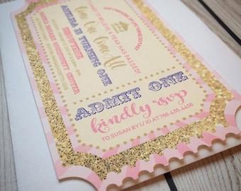 Princess Ticket Carousel Invitation