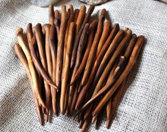 Juniper Economy Makeru0027s Choice Grab Bag 1 Hand Carved Texas Juniper Wood Shawl  Pin Hair Stick, Shawl Stick OOAK