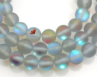 Manmade Austrian Crystal matte round beads 6mm,62 pcs