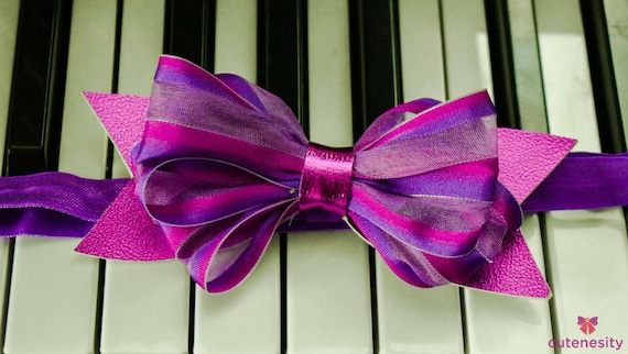 Pink and purple bow  - Baby / Toddler / Girls / Kid Headband / Hairband  / Barette / Hairclip / cake smash / birthday/ wedding/ school bow