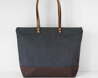 d44f266e7a HANDMADE WAXED CANVAS AND LEATHER TOTE BAGS by ModernCoup on Etsy