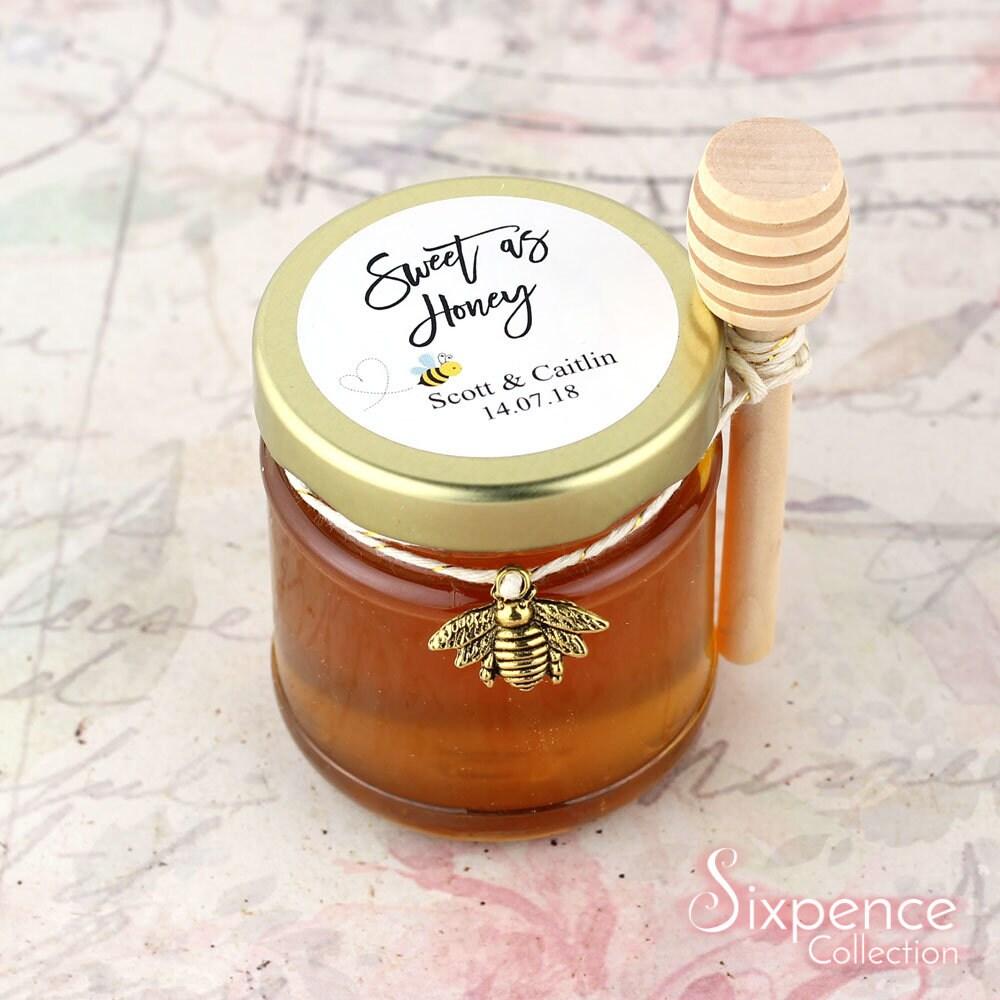Sweet as honey favor sticker jar labels personalised wedding favor stickers