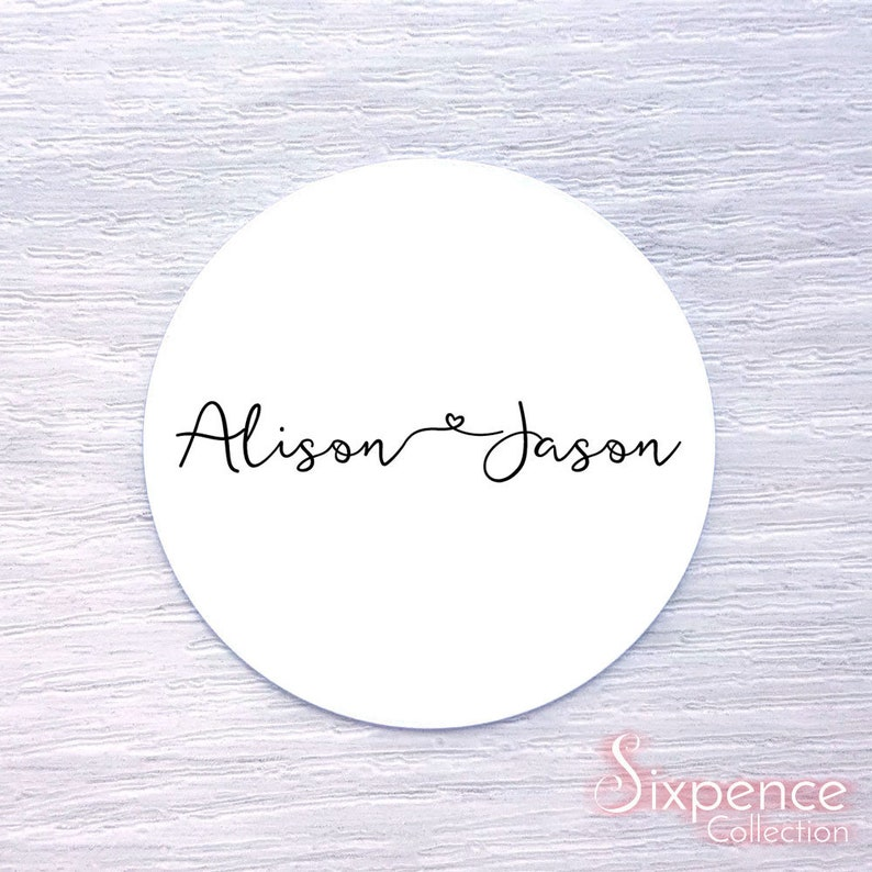 45MM KRAFT OR WHITE PERSONALISED WITH YOUR MESSAGE LABEL STICKERS
