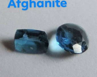 Very rare. Afghanite, two tiny gems, Badakhshan, Afghanistan. #AFG13