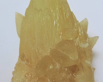 "Yellow calcite in ""dog tooth"", Baluchistan, Pakistan 90x59x43mm. 153.4gr. #CJ03"