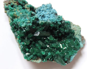 Combination of Dioptase and Shattuckitte 23.78 gr. Congo. 61.6 x 43 x 13 mm. #DSH31