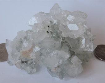 Apophyllite cluster tip 95x63x61mm of Maharashtra in India 264gr. #APP300