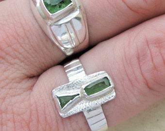 Sterling silver Tsavorite ring #TSR1