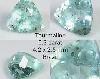 Tourmaline 0.3 carats.  4.2 x 2.5 mm from Brazil. Port offered.