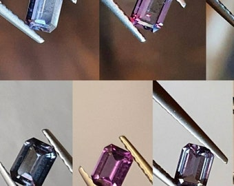 Grenat has color change 0.38ct from Bekily, Madagascar. Dimensions: 5x3.6x2mm. Port offered.