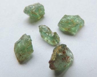 Kornerupine-Prismatine crude 2.23gr. (5 stones) #KR25