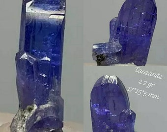 Natural tanzanite crystal perfectly finished 2.2 grams. 17x12x5mm.