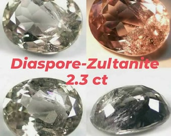 Diaspore - Zultanite 2.3ct from Turkey 9.2-7.3-4.3mm.