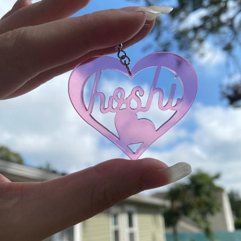 CUSTOM K-Pop Bias Acrylic Earrings Clear Pink