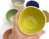 Yellow Cupping Cup | ceramic beaker | handmade beaker | cup | pottery | coffee tea hot chocolate chai | small snack bowl