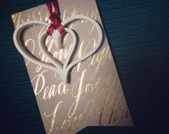 Handmade Christmas ornament, decoration, gift tag | Porcelain Clay | Unglazed