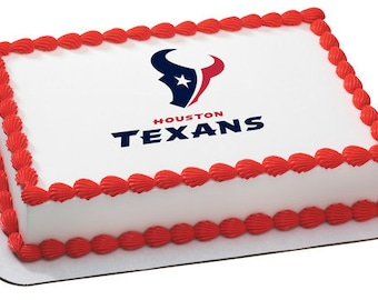 NFL Houston Texans Edible Icing Sheet Cake Decor Topper In Your Choice Of Size