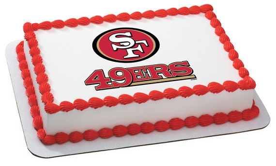 Prime Nfl San Francisco 49Ers Edible Icing Sheet Cake Decor Topper Etsy Funny Birthday Cards Online Overcheapnameinfo