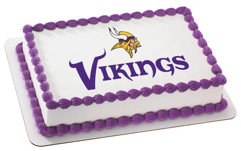 Super Nfl Minnesota Vikings Edible Icing Sheet Cake Decor Topper In Etsy Funny Birthday Cards Online Elaedamsfinfo