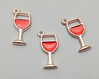Diy Wine Charms Etsy
