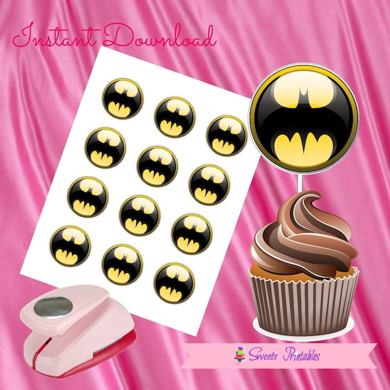 picture relating to Batman Cupcake Toppers Printable named Batman Cupcake Toppers,Batman Present tags,Batman Immediate