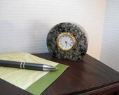 Mini Clock Employee Gift Polished Granite Clock Retirement Clock Gift Granite Table Clock