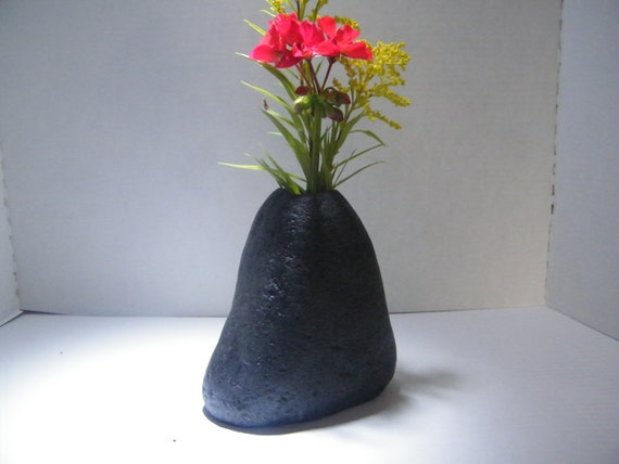 Vase Natural Rock Vase Table Centerpiece Stone Vase Etsy