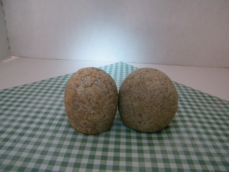 Natural Stone Salt and Pepper Shakers Salt and Pepper Shakers Natural Rock Shakers