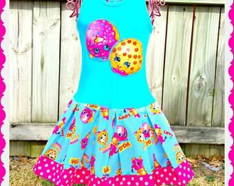 girls shopkins dress etsy