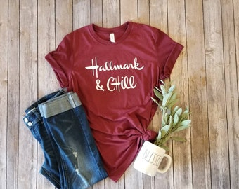 409f4851e Hallmark and chill shirt, movie night, cozy shirt, women's shirt, women's  fashion