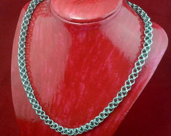 Inverted Round Necklace - Solid Stainless Steel Chainmaille / Chainmail.  Unisex.